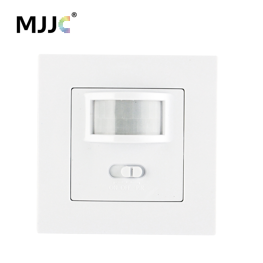 AC 110V 220V PIR Infrared Motion Sensor Wall Mounted Sensor Motion Light Switch ON/OFF Automatic Recessed For LED Lamp Bulbs 110v 130v ac on off auto wall mount motion sensor switch automatic pir infrared sensor light switch with light control g25