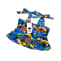 Pet Products Dog Accessories French Bull Dog Pug Summer Hawaii Fashion Dresses
