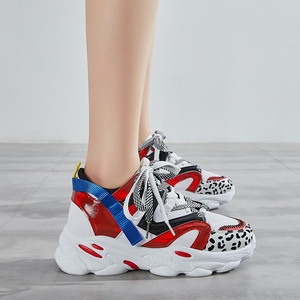 Image 2 - Women Shoes Platform Casual Sneakers Fashion High Increasing Ladies Shoes Chunky Dad Shoes Mixed Colors Scarpe Donna Footwear