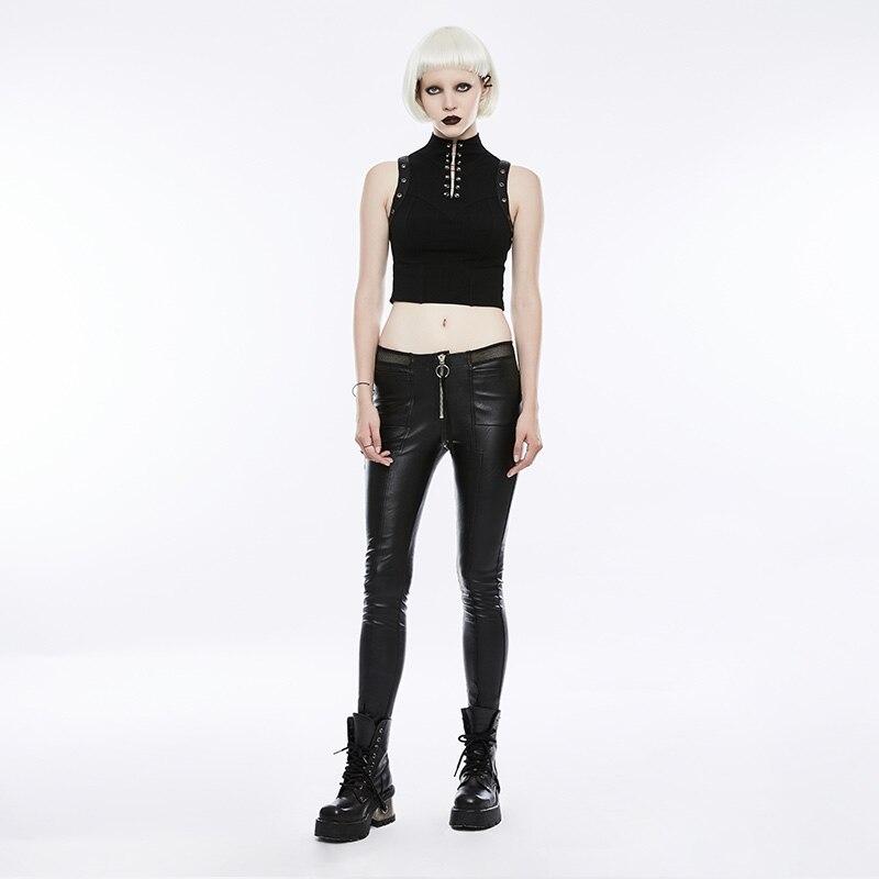 Gothique évider extensible femme beauté Slim Sexy sombre Leggings Punk mode diable empreintes de pas femmes noir pantalon PUNK RAVE K 342 - 4