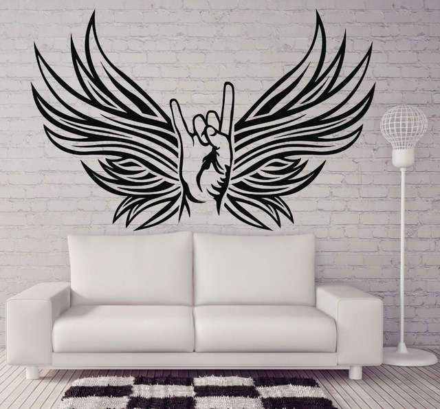 Creative High Quality Wall Sticker Vinyl Decal Rocker Hand Sign - How to make vinyl decals by hand