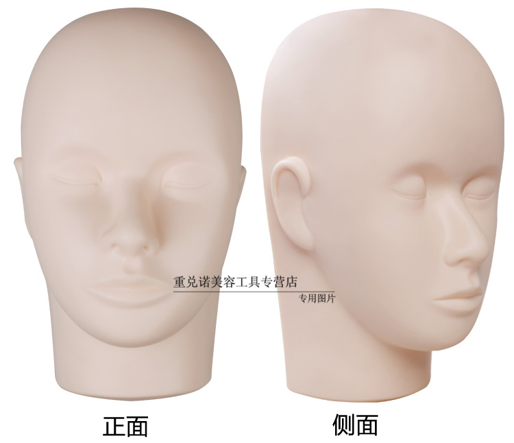 High Quality Massage Training Mannequin Flat Head Silicone Eyelashes Extensions Practice Model