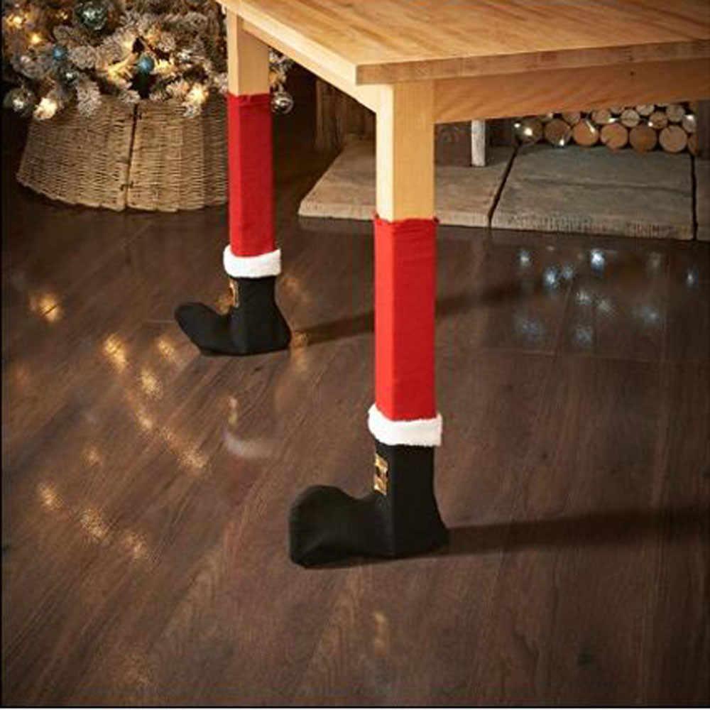 4 шт. набор Рождественский стул ножка покрытие стола украшения для вечерние украшения для рождественского ужина вечерние обеденный стул чехольные покрытия