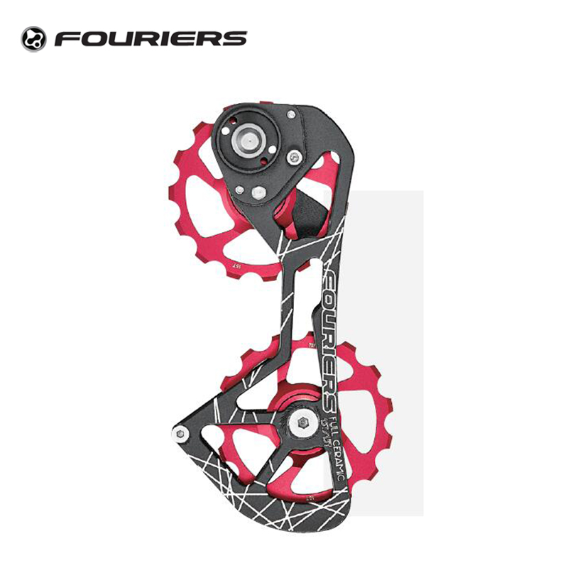 Fouriers Road Bike Ceramic Pulley Wheel 15T Rear Derailleur Pulley Drivetrain For Red e-tap 22 Speed Bicycle pulley wheel up bicycle rear seat trunk bag full waterproof big capacity 27l mtb road bike rear bag tail seat panniers cycling touring
