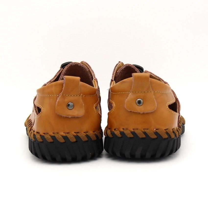 BIMUDUIYU uued mehed sandaalid brändi nahk suvine vabaajajalatsid - Meeste jalatsid - Foto 3