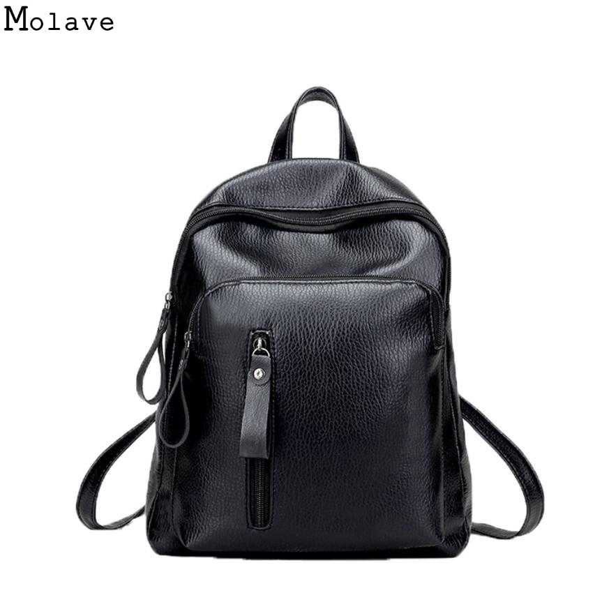Backpack Women Preppy Style PU Leather Female Backpack 2017 Casual Student School Backpacks Fashion Travel Backpacks D35m4
