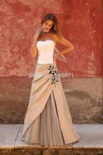 Sexy Sleeveless Off Shoulder Flowers A Line Long Dresses Formal Party 2015 Evening Gown Prom