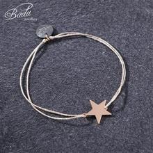 Badu Girls Charming Bracelet Golden Drawstring Adjustable Size Star Charm Bracelets Delicate Jewelry for Holloween