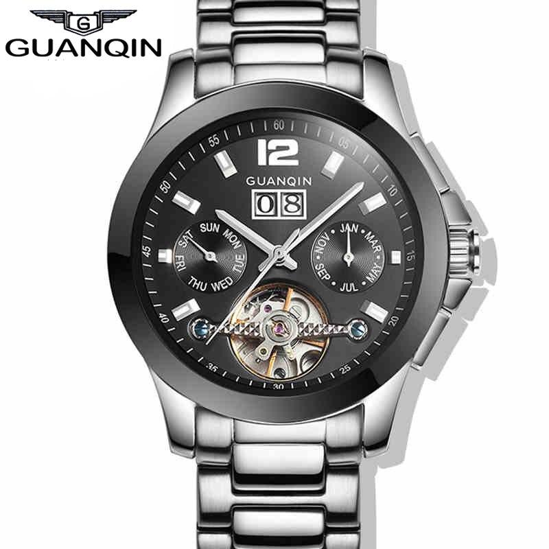 2015 Fashion Design Watches Men Luxury Brand GUANQIN Men Wristwatches Tourbillon Mechanical Watch xiaomi ciga design my series mechanical wristwatches fashion luxury watch men women if design gold award designer brand