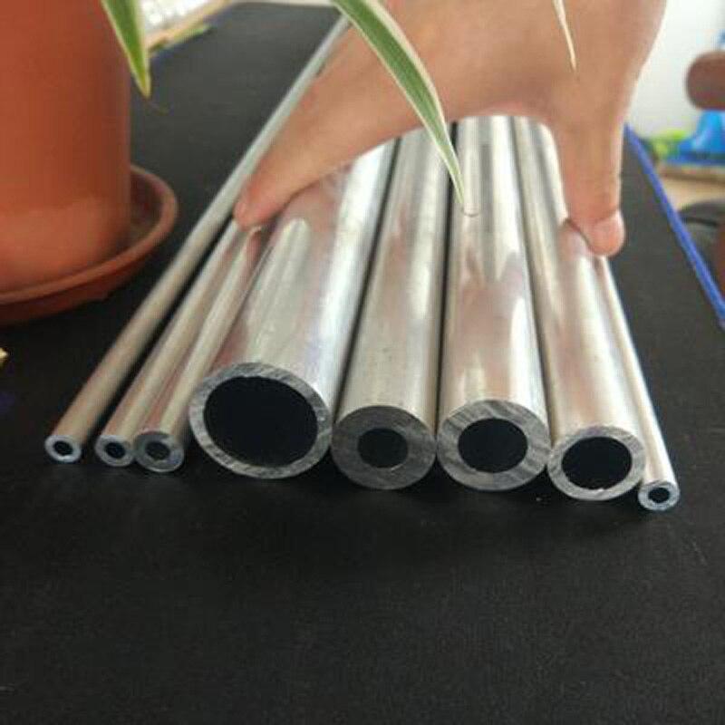 1 Uds 3,6mm-9mm diámetro interior tubo de aluminio aleación hueco AL rod perno duro tubo conducto recipiente 300mm L 10mm OD
