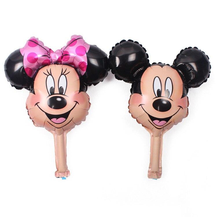 30pcs/lot mickey balloons Minnie Airwalker Foil Balloon Mickey balloon minnie mickey mouse party supplies