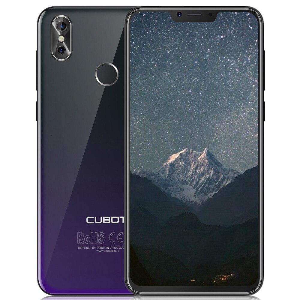 CUBOT P20 Android 8.0 Smartphone 4G 6.18 FHD MTK6750T Octa Core 1.5 GHz 4 GB RAM 64 GB ROM 20.0MP Caméra 4000 mAh Mobile Téléphone Portable
