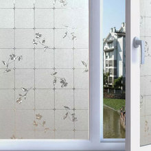 Frosted Lattice Flower Window Privacy Film Glass Sticker Glue-free Static Self-adhesive Opaque bedroom bathroom Home Decor