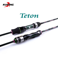 KUYING Teton 5'10 1.75m 6' 1.8m Spinning Casting Stream Soft Fishing Lure Rod Pole Stick Cane Rods Carbon FUJI Light Fast Speed