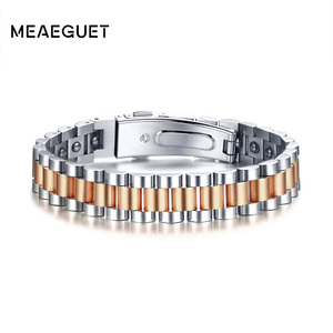 Image 3 - Watch Brands Health Care Hematite Energy Power Male Casual Jewelry Hombre Stainless Steel Men Bracelet
