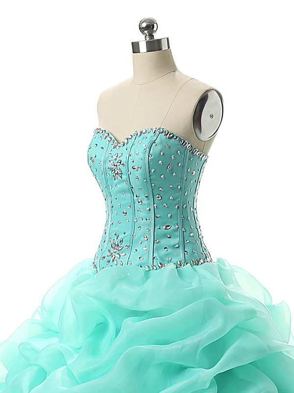 9b02a9a438adb Mint Green Debut Ball Gowns Beading Ball Gown Floor Length Lace Up Back  Quinceanera Dresses Fashionvestidos Quinceanera Baratos-in Quinceanera  Dresses from ...