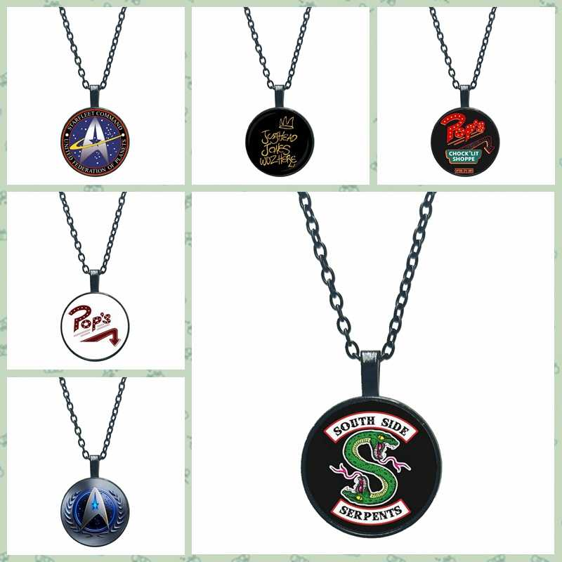 2019HOT! Arrival At The Riverdale Pendant Necklace Riverdale Jewelry Glass Dome Pendant Silver Handmade Necklace