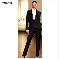 Custom Made Tuxedos Fashion Women's Suits Slim Fit Office Lady Wear Women Casual Dress Pant suits (jacket+pants)