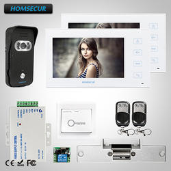 "HOMSECUR 7 ""Видео и Аудио Смарт-дверной Звонок Электрический замок включен в комплекте: TC021-B + TM704-W"