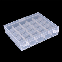 High Quality 25 Slots Empty Bobbins Spools Box Storage Sewing Machine Bobbin Case Covers Hot Sale Sewing Tools hot sale(China)