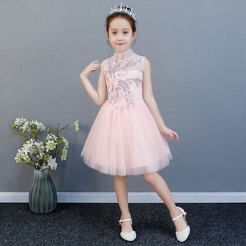 2019 New Children Girls Mesh Embroidery Tutu Princess Dress Baby Girl Clothes Vestidos Kids Dresses For Girls Wedding Party F642019 New Children Girls Mesh Embroidery Tutu Princess Dress Baby Girl Clothes Vestidos Kids Dresses For Girls Wedding Party F64