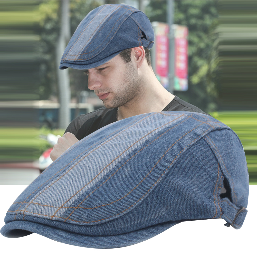 Outdoor Wear Resistance Adjustable Cap Gift Fashion Solid Casual Men Beret Cotton Washable Flat Hats Driving