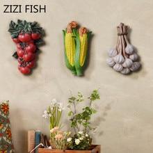 Настенное украшение, художественная Подвеска для гостиной, креативное настенное украшение из смолы, Сельский сельский дом, стиль овощей и фруктов, настенная подвеска