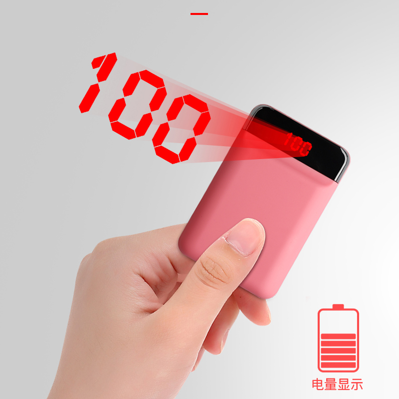12000mAh Mini Power Bank For Xiaomi Mi 9 iPhone Portable Fast Charger LED Display Dual USB Powerbank External Battery Poverbank in Power Bank from Cellphones Telecommunications