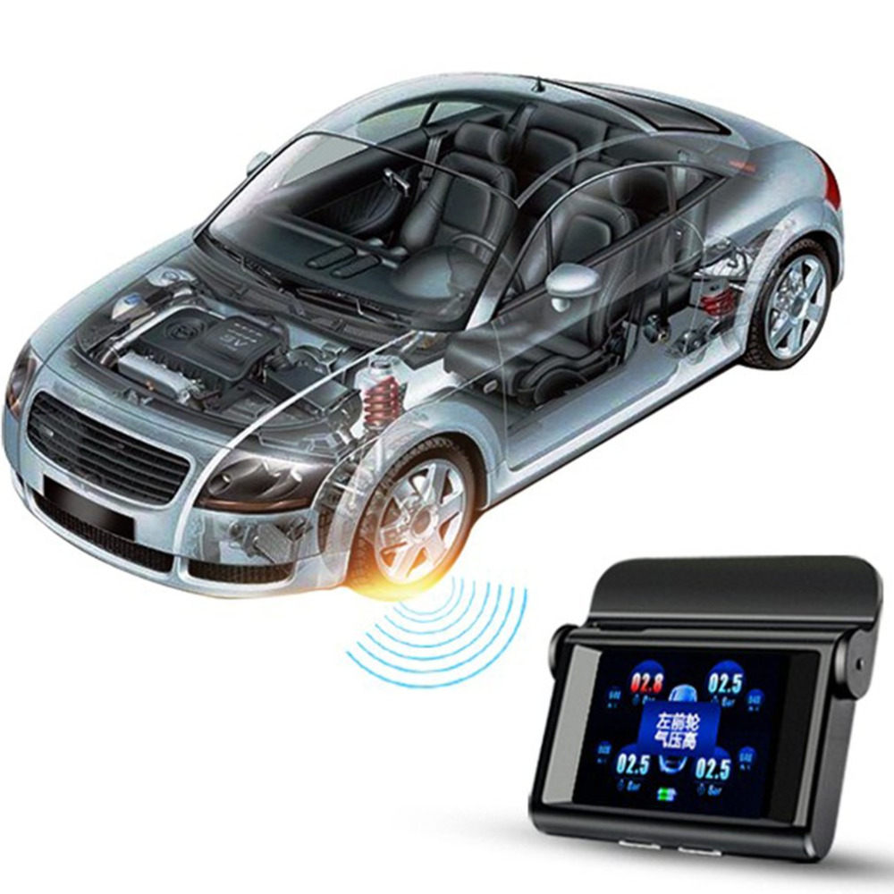 Universal Car TPMS LT-368 Solar Power Pressure Monitoring System 2.4 LCD TPMS Gauge Diagnostic Tool Tire Pressure Alarm tpms tire pressure monitor system car alarm system diagnostic tool wireless solar powered color lcd display