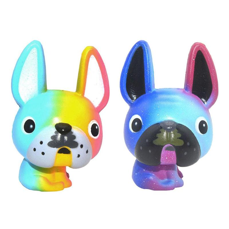 Squishies Toy Squeeze Cartoon PU Super Slow Rising Squeeze Simulation Big Ear Dog Rebound Toy Stress Reliever Squeeze Fun Toy
