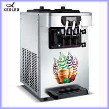 XEOLEO Commercial Ice cream machine Soft Ice cream maker 3 flavors 1900W 18-22L/H Stainless steel Yogurt machine Air cooling