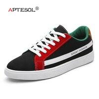 APTESOL Men Fashion Hemp Vulcanize Shoes Male Breathable Non Slip Men S Footwear Comfortable Lace Up