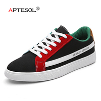 APTESOL Men Fashion Hemp Vulcanize Shoes Male Breathable Non Slip Flats Men S Footwear Comfortable Lace