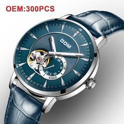 DOM механические для мужчин наручные часы индивидуальные ваш бренд Автоматический Скелет Винтаж часы для мужчин модные часы