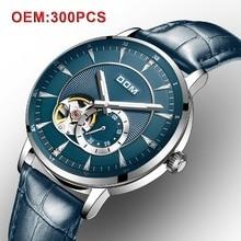 9646d87288e8 DOM Homens Mecânicos Relógios de Pulso Personalizado Sua Marca Esqueleto  Automático Homens Relógio Do Vintage Relógio de Moda Re.