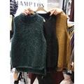Восточные ворота 2015 новый женский норковая кашемировый свитер толстый зимний жилет без рукавов жилет корейской академии