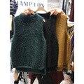 East Gate 2015 new female mink cashmere sweater thick winter vest sleeveless vest Korean Academy