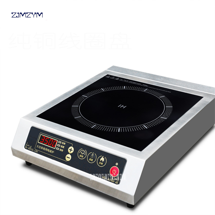 S-350 Commercial electromagnetic oven 3500W power induction cooker electric frying stove stir household stainless steel plane dmwd electric induction cooker waterproof high power button magnetic induction cooker intelligent hot pot stove 110v 220v eu us