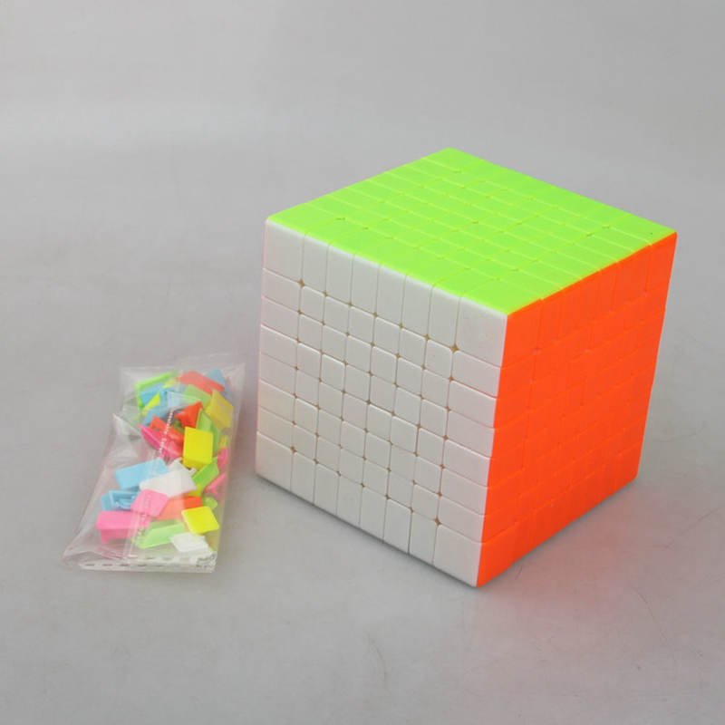 Colorful 8x8x8 Magic Cubes Eight Layers Stickerless Profissional Competition Speed Puzzle Cubes Cool Toy for Kids Adults GiftColorful 8x8x8 Magic Cubes Eight Layers Stickerless Profissional Competition Speed Puzzle Cubes Cool Toy for Kids Adults Gift