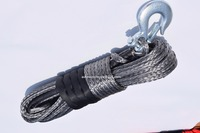 Grey 10mm*30m Synthetic Winch Cable,ATV Winch Line,Winch Rope Extension,Off Road Rope