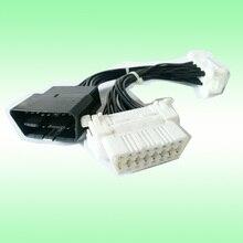 16 pin OBDII OBD2 OBD ii OBD 2 Splitter Extension Connettore Maschio a Doppio Femminile Y Cable 25 pz/lotto
