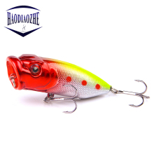 Купить с кэшбэком Hot Popper Fishing Lures 7cm 10g Topwater Wobblers Isca Artificial Hard Bait Swimbait 5 Colors Available Crankbait Fishing Lure