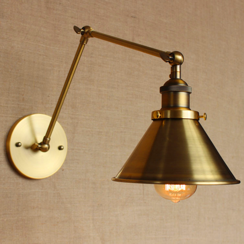 Vintage Gold Wall Lights : Online Buy Wholesale swing arm reading light from China swing arm reading light Wholesalers ...