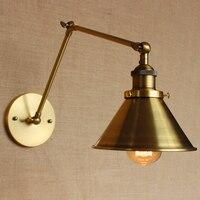 LOFT Nordic Vintage Wand Lampe Klassische gold Kunst Leuchte Dekorative Licht Verstellbare kopf FÜHRTE 2 Schaukel Arm Lichter lesen ZBD0048
