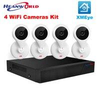 Cctv نظام hd wifi كاميرا ip nvr كيت 4ch 1080 وعاء كاميرا wifi كاميرا كيت الأمن الرئيسية نظام مراقبة داخلي اللاسلكية