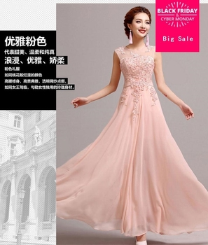 Factory outlet 2020 fashion bride toast clothing long etiquette bridesmaid dress dinner party host Cheongsams w1386