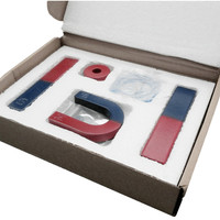 1 Set Magnetic Teaching Tool Kit Horseshoe Magnet U type and compass with two rings two bar magnet / Toy magnet