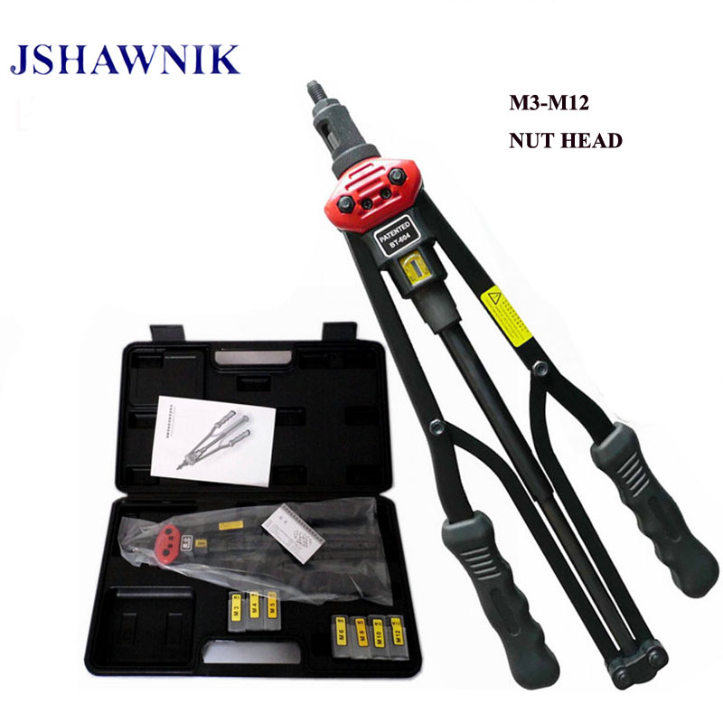 17 M3-M12 BT604 automatically exit Hand Riveter Rivet Nut Gun Riveting Tools With plastic box 1pc 17 bt604 automatically exit hand riveter rivet nut gun riveting tools with carton