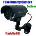 CCTV cam impermeable Señuelo falso Emulational Falso Maniquí Cámara de Seguridad Al Aire Libre IR Inalámbrico Intermitente intermitente Led Rojo