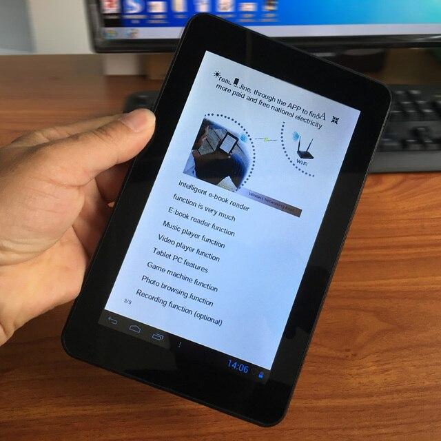 Hot 7 inch Màn Hình cảm ứng E-Book reader thông minh HD mắt-an toàn hiển thị wifi chơi kỹ thuật số với toàn cầu Đa- ngôn ngữ